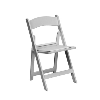 white garden folding chair