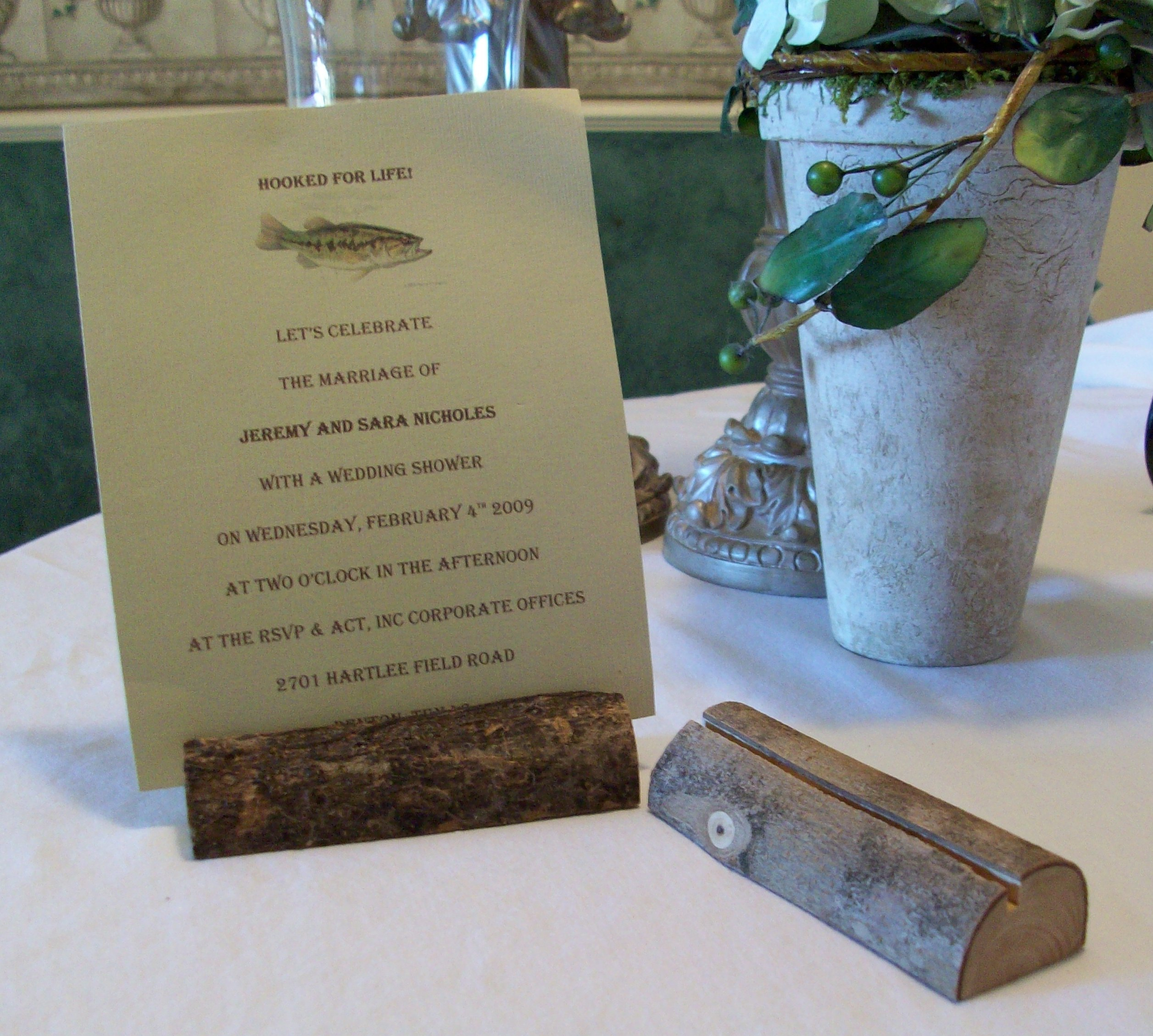Wood Place Card Holders. Hctls58v; Rustic Placecard Holders. Homeu003eTabletop  ...