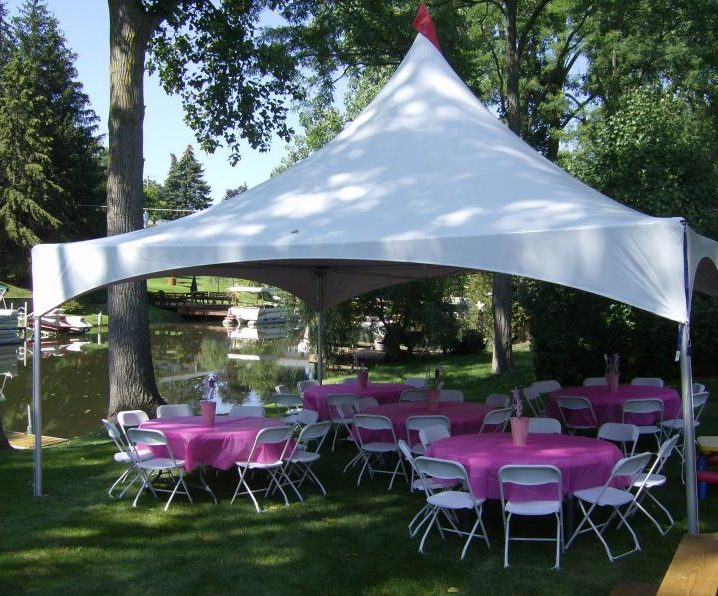 & Marquee Style Frame Tent for Weddings and Parties from 5 Star Rentals