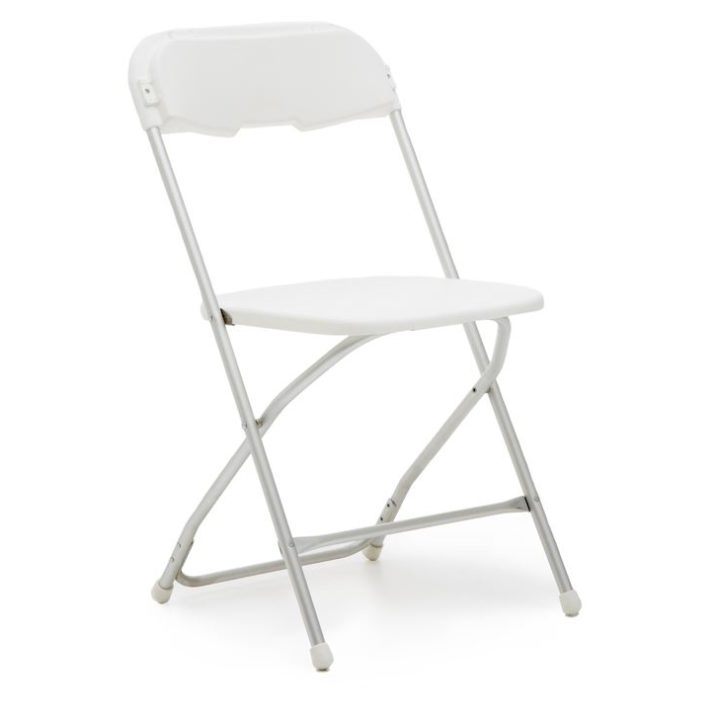 White Samsonite Folding Chair Party and Wedding Rentals for Denton and Nort