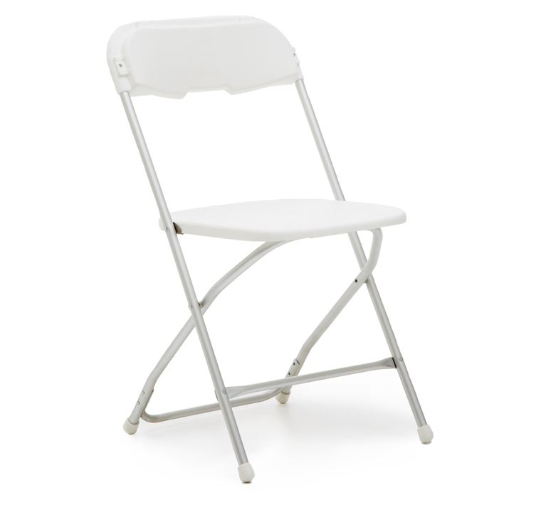 sc 1 st  5 Star Rental & White Samsonite Folding Chair For Rent