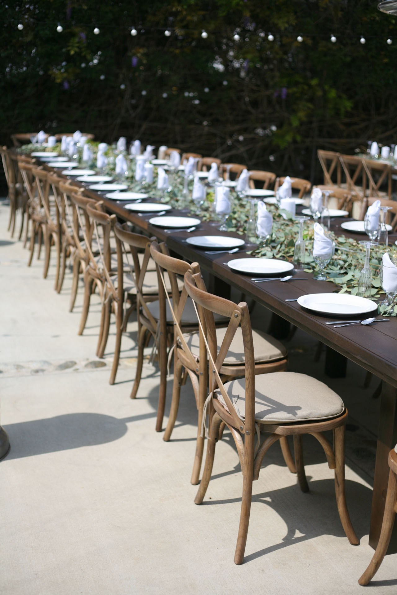 Cross Back Wood Chairs Party and Wedding Rentals for Denton and