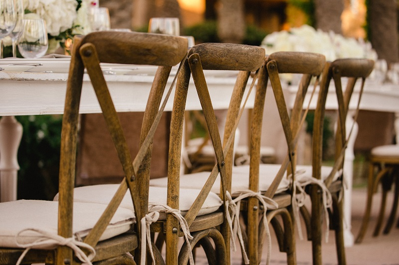 Cross Back Wood Chairs