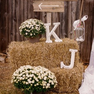 Hay Bale Wedding Reception
