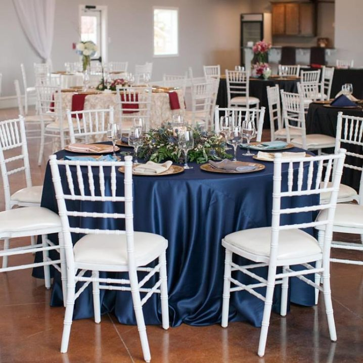 Navy Lamour Table Set up
