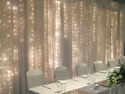 Drape String Lights Ceiling : Shear Pipe & Drape - Party and Wedding Rentals for Denton and North Texas 5 Star Rental