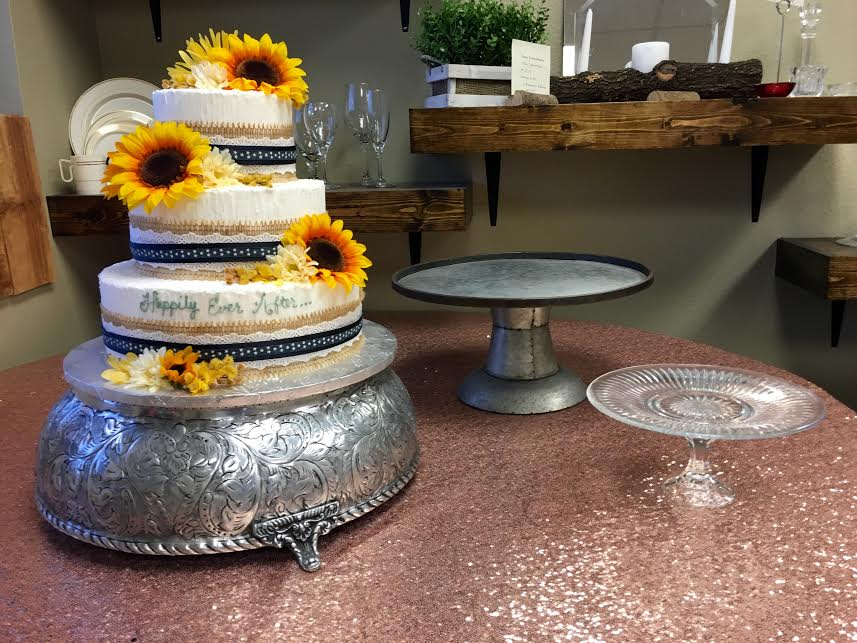 Elegant Cake Stands For Weddings And, Silver Round Cake Plateau