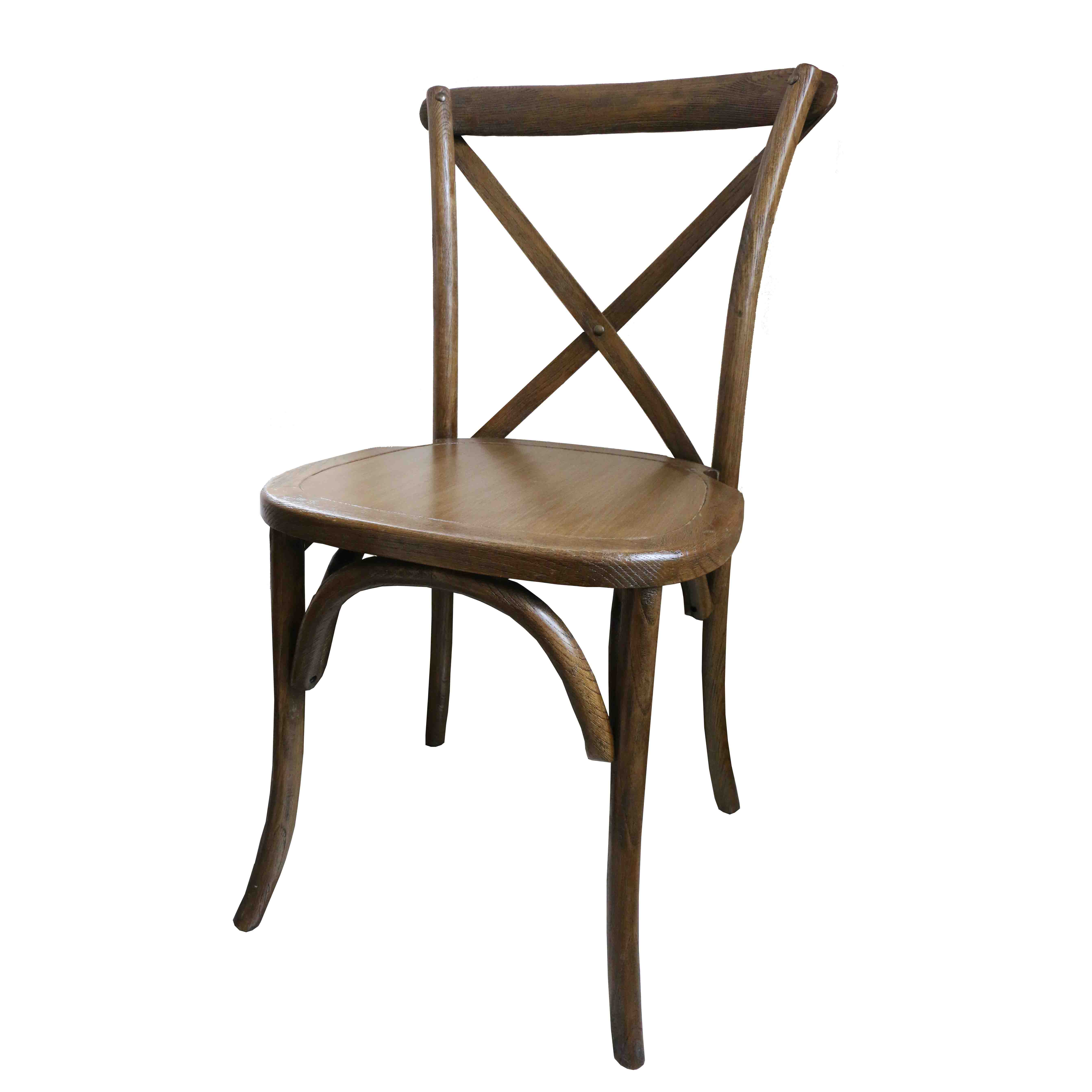 Cross Back Wood Chairs Party And Wedding Rentals For