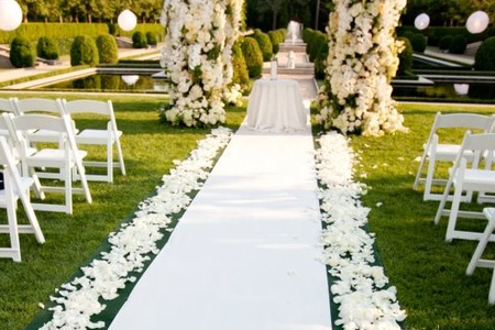 White Carpet Runner Party And Wedding Rentals For Denton